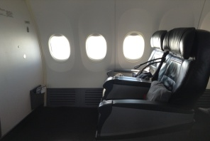 Business class cabin Turkish Airlines