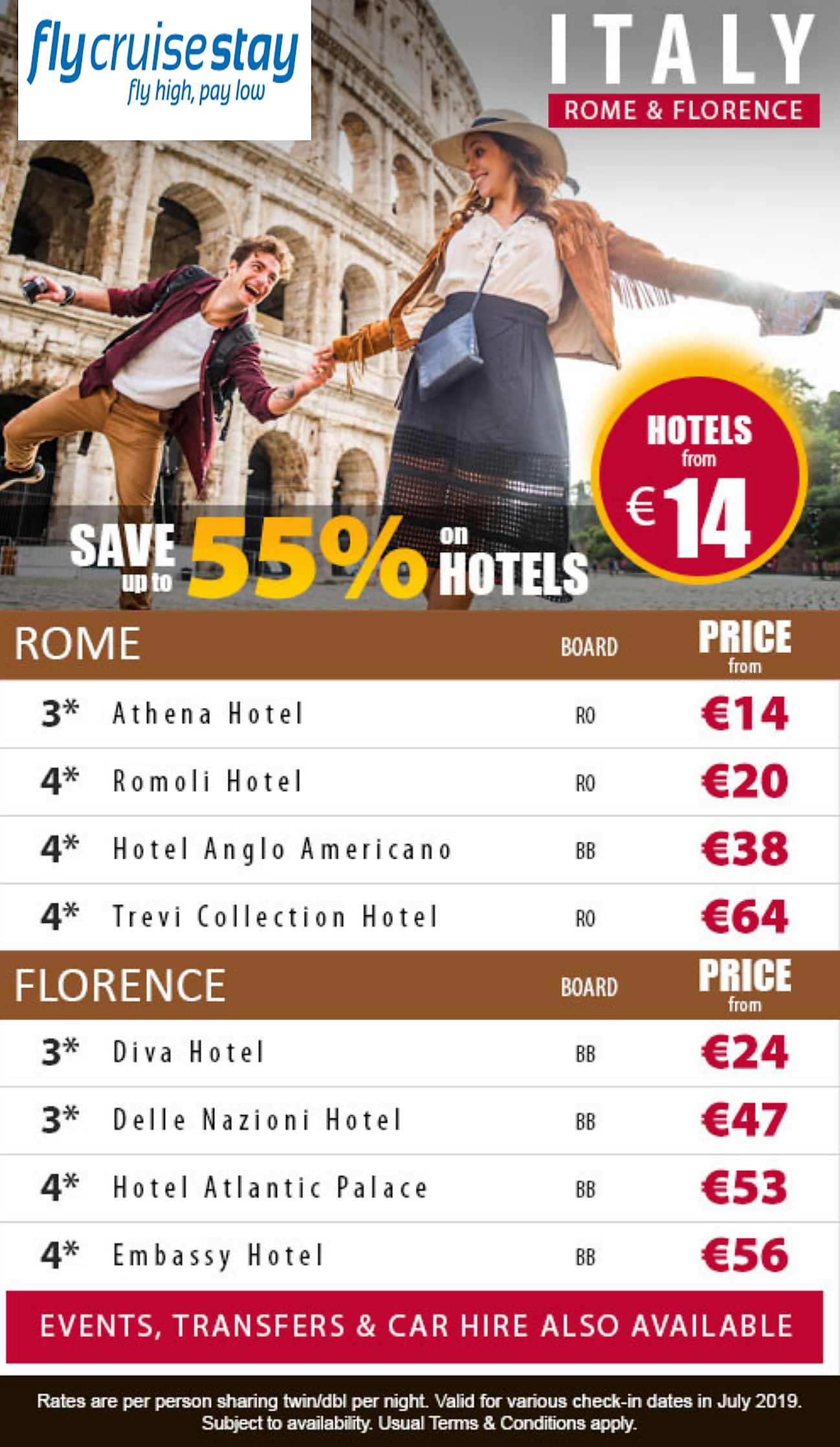Florence and Rome Hotels