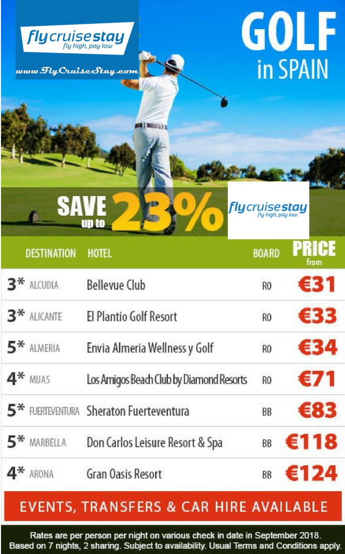 Spanish Golf Hotels