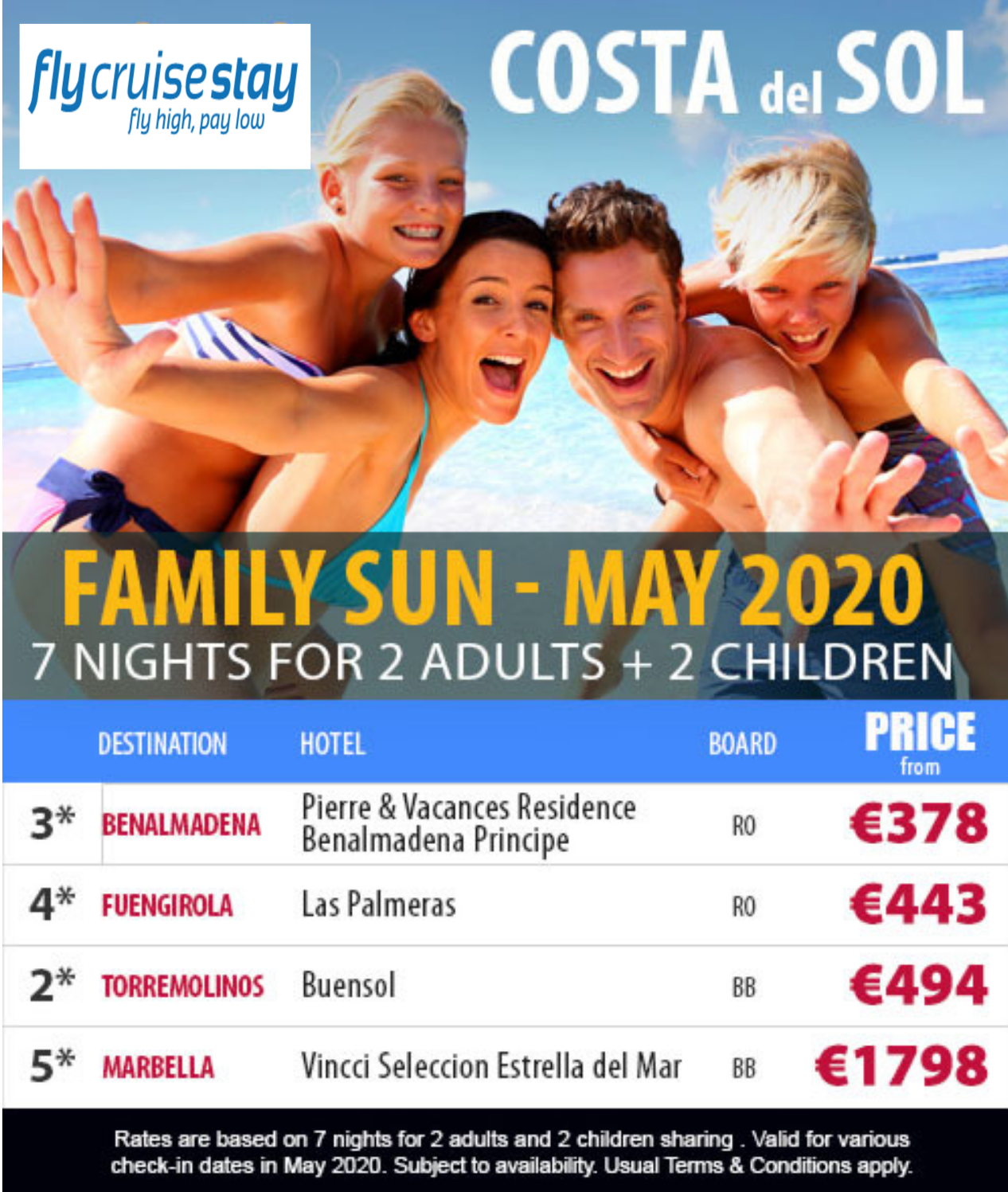 Family Hotel Deals in Costa Del Sol