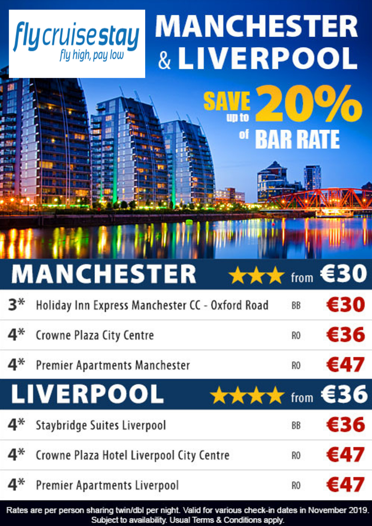 Liverpool and Manchester hotels