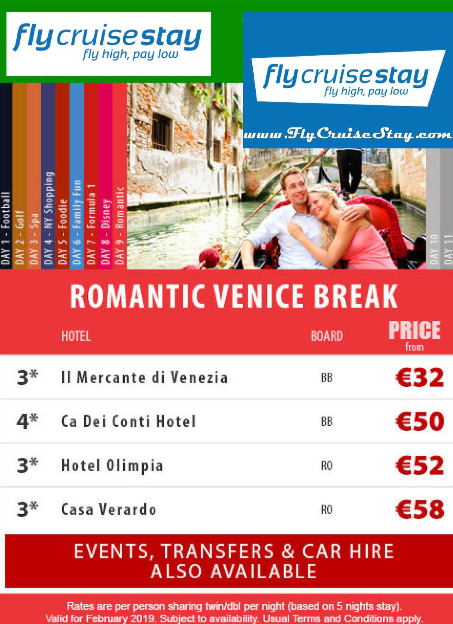 Romantic hotels Venice