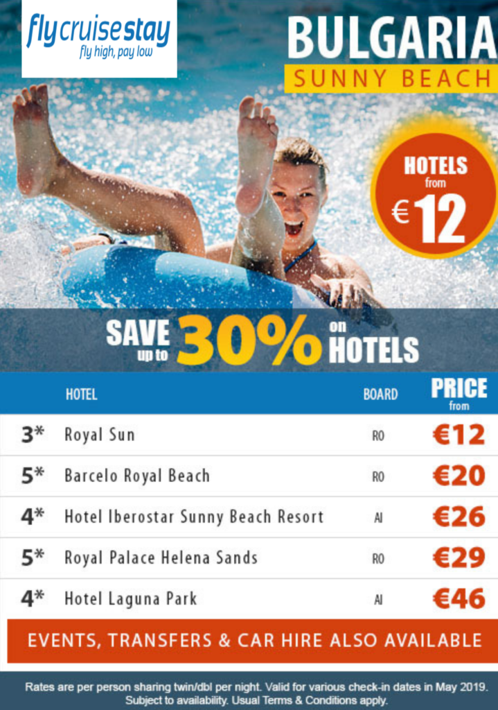 Sunny Beach Hotel Deals